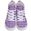 HOUNDSTOOTH1 WHITE MARBLE & PURPLE DENIM Kid s Hi-Top Skate Sneakers View1