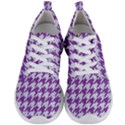 HOUNDSTOOTH1 WHITE MARBLE & PURPLE DENIM Men s Lightweight Sports Shoes View1