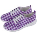 HOUNDSTOOTH1 WHITE MARBLE & PURPLE DENIM Men s Lightweight Sports Shoes View2