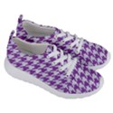 HOUNDSTOOTH1 WHITE MARBLE & PURPLE DENIM Women s Lightweight Sports Shoes View3