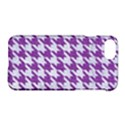 HOUNDSTOOTH1 WHITE MARBLE & PURPLE DENIM Apple iPhone 8 Hardshell Case View1