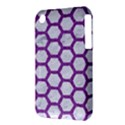 HEXAGON2 WHITE MARBLE & PURPLE DENIM (R) iPhone 3S/3GS View3