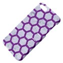 HEXAGON2 WHITE MARBLE & PURPLE DENIM (R) Apple iPhone 5 Hardshell Case with Stand View4