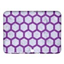 HEXAGON2 WHITE MARBLE & PURPLE DENIM (R) Samsung Galaxy Tab 4 (10.1 ) Hardshell Case  View1