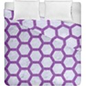 HEXAGON2 WHITE MARBLE & PURPLE DENIM (R) Duvet Cover Double Side (King Size) View1