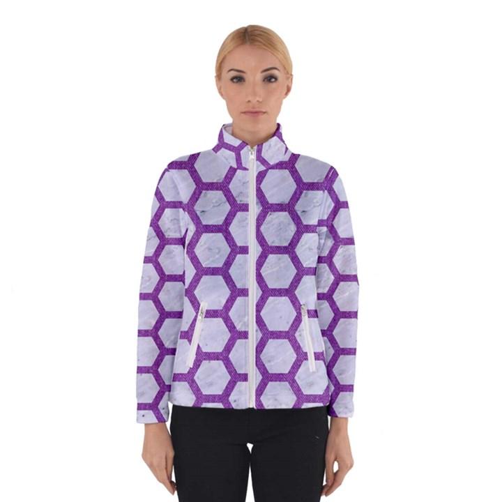 HEXAGON2 WHITE MARBLE & PURPLE DENIM (R) Winterwear