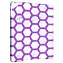 HEXAGON2 WHITE MARBLE & PURPLE DENIM (R) Apple iPad Pro 9.7   Hardshell Case View2