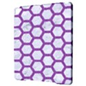 HEXAGON2 WHITE MARBLE & PURPLE DENIM (R) Apple iPad Pro 9.7   Hardshell Case View3