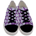 HEXAGON2 WHITE MARBLE & PURPLE DENIM (R) Men s Low Top Canvas Sneakers View1