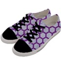 HEXAGON2 WHITE MARBLE & PURPLE DENIM (R) Men s Low Top Canvas Sneakers View2