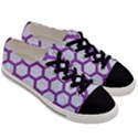 HEXAGON2 WHITE MARBLE & PURPLE DENIM (R) Men s Low Top Canvas Sneakers View3