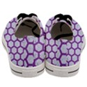 HEXAGON2 WHITE MARBLE & PURPLE DENIM (R) Men s Low Top Canvas Sneakers View4