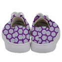 HEXAGON2 WHITE MARBLE & PURPLE DENIM (R) Kids  Low Top Canvas Sneakers View4