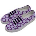 HEXAGON2 WHITE MARBLE & PURPLE DENIM (R) Men s Classic Low Top Sneakers View2