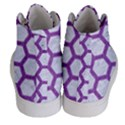 HEXAGON2 WHITE MARBLE & PURPLE DENIM (R) Women s Hi-Top Skate Sneakers View4