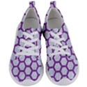 HEXAGON2 WHITE MARBLE & PURPLE DENIM (R) Women s Lightweight Sports Shoes View1