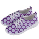 HEXAGON2 WHITE MARBLE & PURPLE DENIM (R) Women s Lightweight Sports Shoes View2