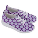 HEXAGON2 WHITE MARBLE & PURPLE DENIM (R) Women s Lightweight Sports Shoes View3