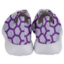 HEXAGON2 WHITE MARBLE & PURPLE DENIM (R) Women s Lightweight Sports Shoes View4