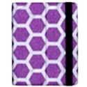 HEXAGON2 WHITE MARBLE & PURPLE DENIM Apple iPad Mini Flip Case View2