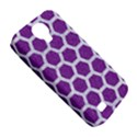 HEXAGON2 WHITE MARBLE & PURPLE DENIM Samsung Galaxy S4 Classic Hardshell Case (PC+Silicone) View5