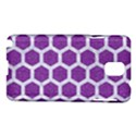 HEXAGON2 WHITE MARBLE & PURPLE DENIM Samsung Galaxy Note 3 N9005 Hardshell Case View1