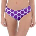 HEXAGON2 WHITE MARBLE & PURPLE DENIM Reversible Classic Bikini Bottoms View1