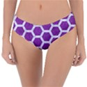 HEXAGON2 WHITE MARBLE & PURPLE DENIM Reversible Classic Bikini Bottoms View3