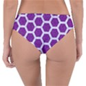 HEXAGON2 WHITE MARBLE & PURPLE DENIM Reversible Classic Bikini Bottoms View4