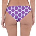 HEXAGON2 WHITE MARBLE & PURPLE DENIM Reversible Hipster Bikini Bottoms View2