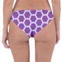 HEXAGON2 WHITE MARBLE & PURPLE DENIM Reversible Hipster Bikini Bottoms View4