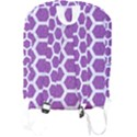 HEXAGON2 WHITE MARBLE & PURPLE DENIM Full Print Backpack View2