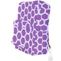 HEXAGON2 WHITE MARBLE & PURPLE DENIM Full Print Backpack View3