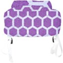 HEXAGON2 WHITE MARBLE & PURPLE DENIM Full Print Backpack View4