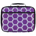 HEXAGON2 WHITE MARBLE & PURPLE DENIM Full Print Lunch Bag View1