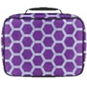 HEXAGON2 WHITE MARBLE & PURPLE DENIM Full Print Lunch Bag View2