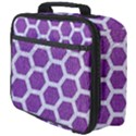 HEXAGON2 WHITE MARBLE & PURPLE DENIM Full Print Lunch Bag View4