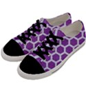 HEXAGON2 WHITE MARBLE & PURPLE DENIM Men s Low Top Canvas Sneakers View2