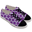 HEXAGON2 WHITE MARBLE & PURPLE DENIM Men s Low Top Canvas Sneakers View3