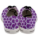 HEXAGON2 WHITE MARBLE & PURPLE DENIM Men s Low Top Canvas Sneakers View4