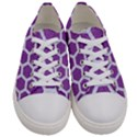 HEXAGON2 WHITE MARBLE & PURPLE DENIM Women s Low Top Canvas Sneakers View1