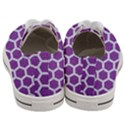 HEXAGON2 WHITE MARBLE & PURPLE DENIM Women s Low Top Canvas Sneakers View4