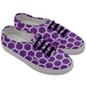 HEXAGON2 WHITE MARBLE & PURPLE DENIM Men s Classic Low Top Sneakers View3