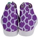 HEXAGON2 WHITE MARBLE & PURPLE DENIM Women s Mid-Top Canvas Sneakers View4
