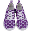 HEXAGON2 WHITE MARBLE & PURPLE DENIM Women s Lightweight Sports Shoes View1