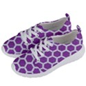 HEXAGON2 WHITE MARBLE & PURPLE DENIM Women s Lightweight Sports Shoes View2