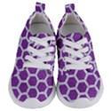 HEXAGON2 WHITE MARBLE & PURPLE DENIM Kids  Lightweight Sports Shoes View1
