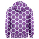 HEXAGON2 WHITE MARBLE & PURPLE DENIM Men s Overhead Hoodie View2