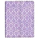 HEXAGON1 WHITE MARBLE & PURPLE DENIM (R) Apple iPad Mini Flip Case View1