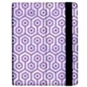 HEXAGON1 WHITE MARBLE & PURPLE DENIM (R) Apple iPad Mini Flip Case View2